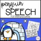 Winter Speech Therapy for Articulation Early Sounds - Peng