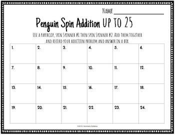 Penguin Spin Addition up to 25