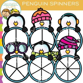 Penguin Spinners Clip Art