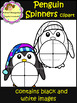Penguin Spinners Clip Art (School Designhcf)