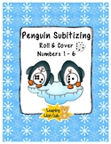 Penguin Subitizing, Roll and Cover 1-6