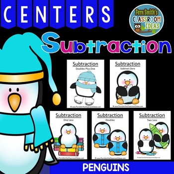 Penguins Quick and Easy to Prep Subtraction Centers and Pr