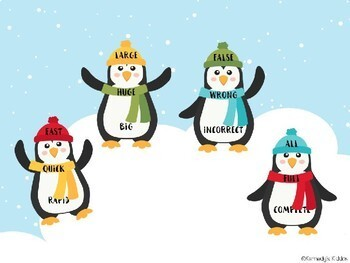 Penguin Synonyms (Great for Google Classroom!)