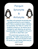 Penguin Synonyms and Antonyms
