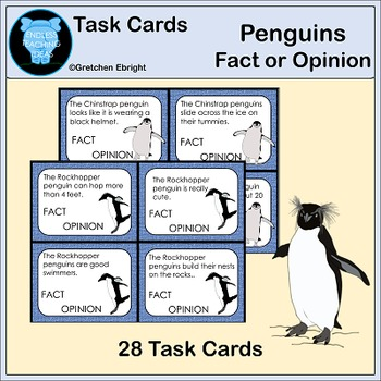 Penguin Task Cards - Fact or Opinion