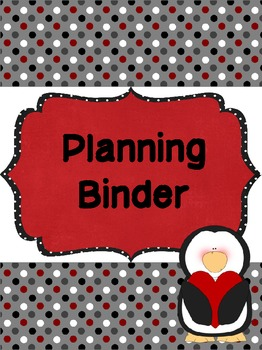 Penguin Teacher Binder Covers