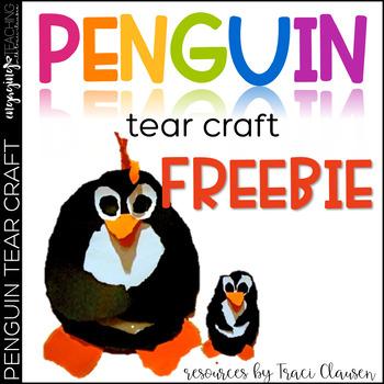 FREE Penguin Tear Craftivity