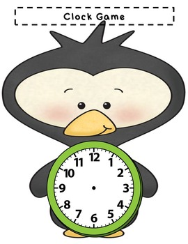 Penguin Telling Time Game