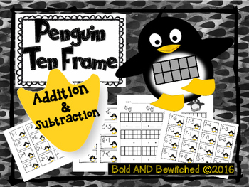 Penguin Ten Frame- Addition & Subtraction to 10