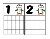 Penguin Ten Frame Activity (Numbers 1-20)