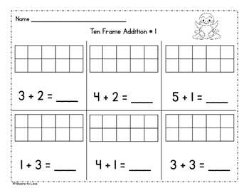 Penguin Ten Frame Addition and Subtraction