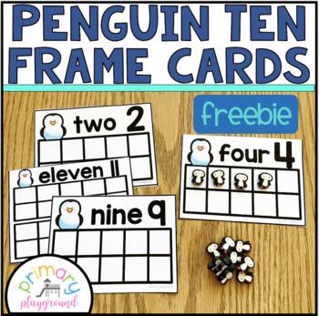 Penguin Ten Frame Cards 1-20