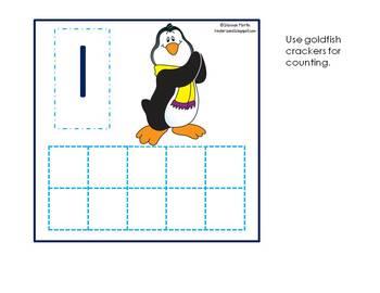 Penguin Ten Frames 1-10