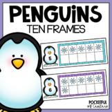Penguins Ten Frames using Mini Erasers