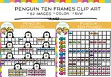 Penguin Ten Frames Clip Art