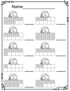 Penguin Ten Frames/Number Recognition
