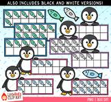 Penguin Ten Frames Winter Clip Art