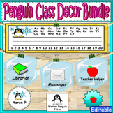 Penguin Theme Labels Classroom Decor