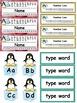 Penguin Theme Labels Classroom Decor