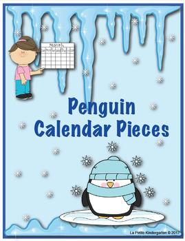 Penguin Theme Calendar Pieces