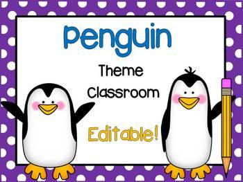 Penguin Theme Classroom {Editable!}