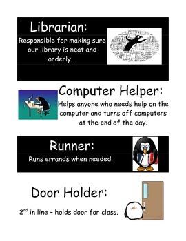 Penguin Theme Job Cards