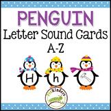 Winter Penguins Letter Sound Cards A-Z