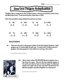 Penguin Theme Multiplication Review