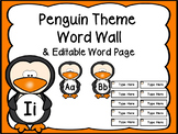 Penguin Word Wall & Editable Word Page