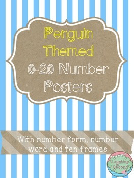 Penguin Themed 0-20 Numbers Posters