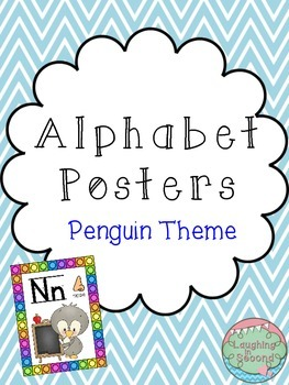 Penguin Themed Alphabet Posters
