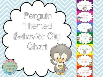 Penguin Themed Behavior Chart
