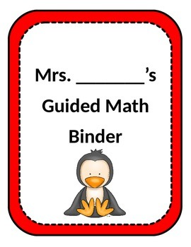 Penguin Themed Binder Covers