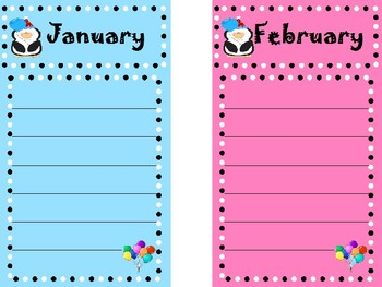 Penguin Themed Birthday Graph