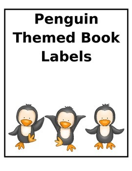 Penguin Themed Book Labels