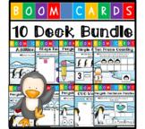 Penguin Themed Boom Cards - Math and Language Arts Bundle