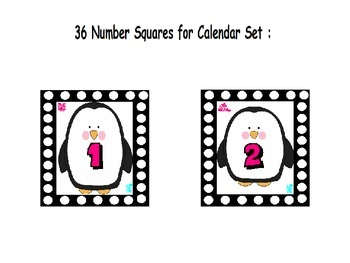 Penguin Themed Calendar Kit: