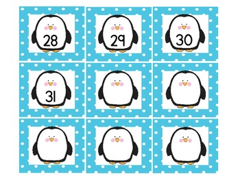 Penguin Themed Calendar Pieces