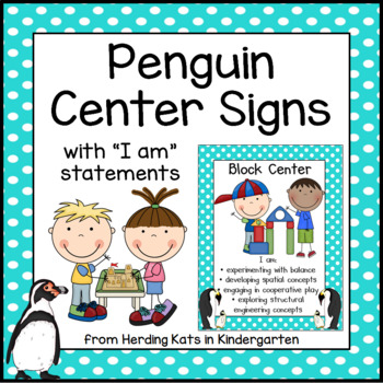 Penguin Themed Center Signs