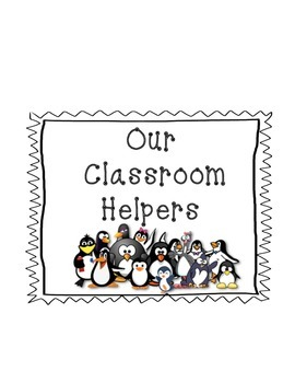 Penguin Themed Classroom Jobs