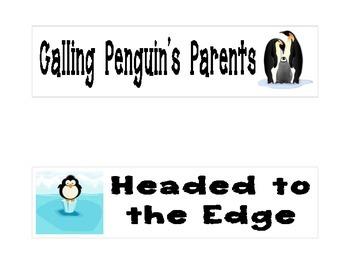 Penguin Themed Clip Chart