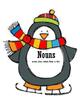 Penguin Themed Grammar Center for Sorting Verbs, Adjective
