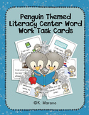 Penguin Themed Literacy Center Word Work Task Cards