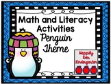 Penguin Themed Math and Literacy Activities for Winter