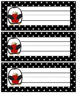 Penguin Themed Name Plates