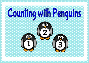Penguin Themed Numbers 1 to 100 Flashcards