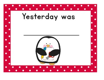 Penguin Themed Yesterday, Today, Tomorrow Cards
