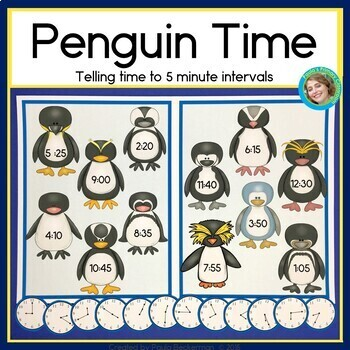 Penguin Time: Second Grade Math - Telling Time