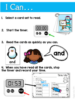 Sight Word Fluency Penguin