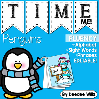 Dolch Word Fluency:  Time Me!  Penguin